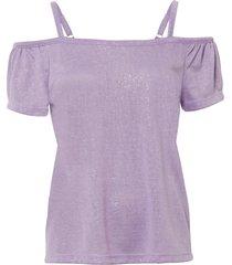 maglia lucida con spalle scoperte (viola) - bodyflirt