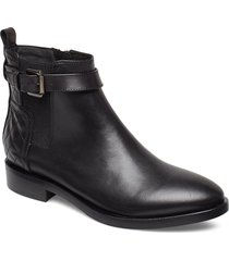 donna brogue c shoes boots ankle boots ankle boot - flat svart geox