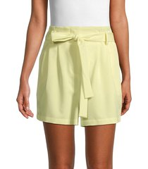 bcbgmaxazria women's belted shorts - charlock - size xxs