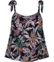 alarna cami tie top t-shirts & tops sleeveless multi/mönstrad superdry