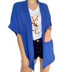 kimono azul xenona  plus azul