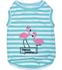 parisian pet flamingos dog t-shirt