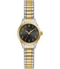 caravelle women's two-tone stainless steel expansion bracelet watch 24mm