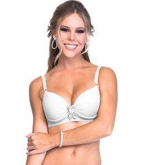 suti㣠sempre sensual lingerie drapeado laã§os branco - branco - feminino - dafiti