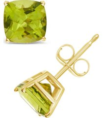amethyst (2-7/8 ct. t.w.) stud earrings in 14k yellow gold. also available in citrine, peridot and garnet