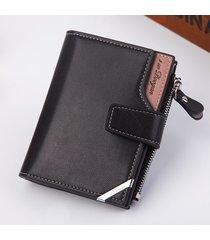 mini billetera/ billetera vertical de la hebilla de la-negro