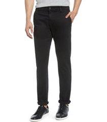 men's mavi jeans johnny slim fit twill chino pants, size 38 x 30 - black