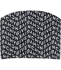 givenchy logo-print neck warmer - black