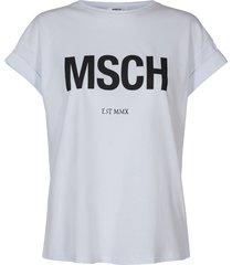 moss copenhagen t-shirt alva tee wit