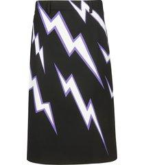 prada printed skirt