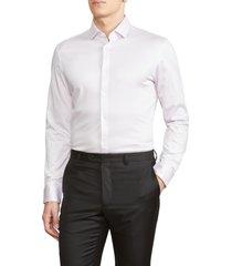 men's john varvatos star usa slim fit dress shirt, size 17.5l - pink