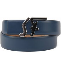 salvatore ferragamo fs smooth leather belt