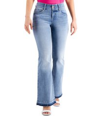 inc sculpting-fit flare-leg jeans, created for macy's