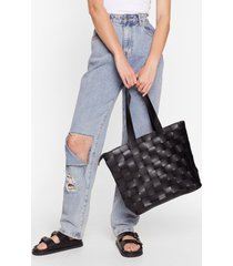 womens want weave only just begun tote bag - black