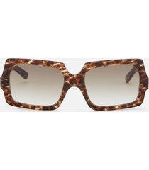 acne studios men's george large sunglasses - leopard/brown degrade