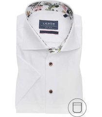 korte mouwen overhemd ledub modern fit wit