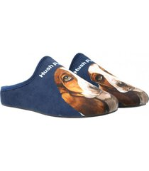 pantufla hp slipper dog azul hush puppies