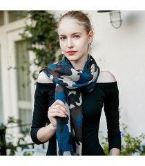 sciarpa scialle leggera con stampa mimetica leggera uacy 180cm * 90cm per scialli da spiaggia primavera estate