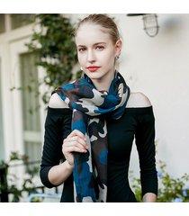 uacy 180cm * 90cm sciarpa scialle leggera con stampa camouflage per scialli da spiaggia primavera estate