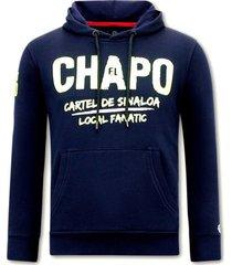 sweater local fanatic hoodie print el chapo
