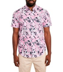 tallia men's hawaiian print short sleeve shirt