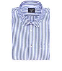 camisa thompson a rayas con bolsillo - azul