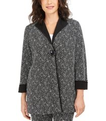jm collection long printed jacquard jacket, created for macy's
