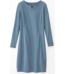jersey jurk, nachtblauw 36