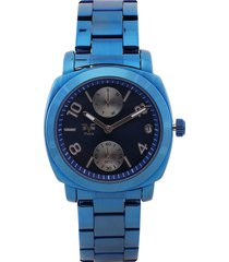 reloj azul-oro rosa versace 19.69