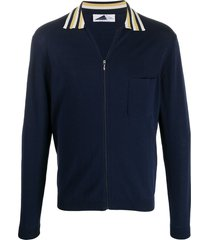 anglozine zip-up cardigan - blue