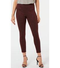 hue women's tweed high-waist knit leggings