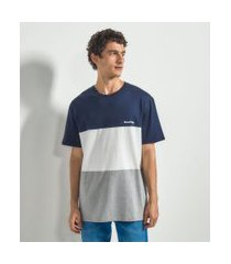 camiseta com recortes e estampa good vibes | blue steel | azul | pp