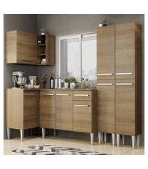 cozinha completa de canto madesa emilly music com armário, balcão e paneleiro rustic rustic