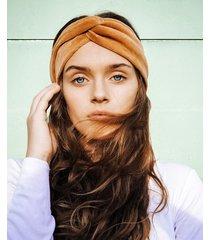 caramel velvet turban - opaska