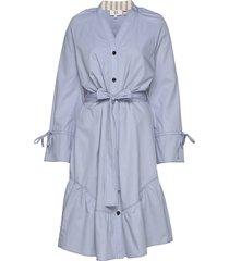 dress long sleeve jurk knielengte blauw noa noa