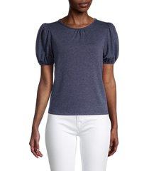 tiana b women's puffed-sleeve top - denim - size l