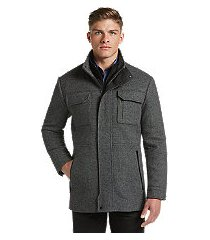 1905 collection tailored fit tweed field coat - big & tall