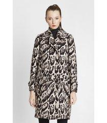 płaszcz wełniany leopard skin