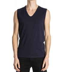 mey sleeveless shirt organic yacht blue ( 48737)