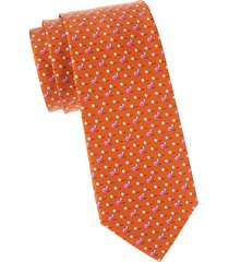 snail-print silk tie