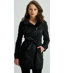 casaco nexy trench coat preta