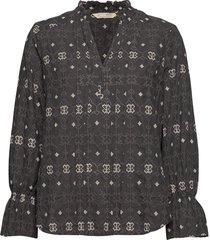 célia blouse blouse lange mouwen grijs odd molly