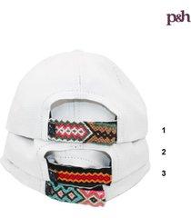 gorra maconbe blanco / rojo utria
