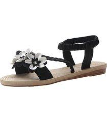 zapatos planos sandalias de estudiantes con la correa trasera de