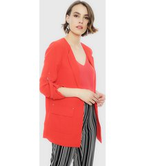 blazer ash liso largo rojo - calce regular