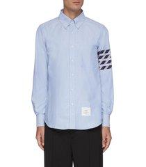 four-bar stripe oxford shirt