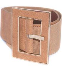 cinturon elastico hebilla forrada tostado mailea