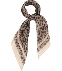 rebecca minkoff women's peach animal bandana scarf