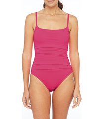 la blanca island goddess one-piece swimsuit, size 10 in ginger at nordstrom