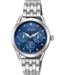 citizen drive from citizen eco-drive women's stainless steel bracelet watch 38mm